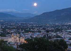 Oaxaca at night.