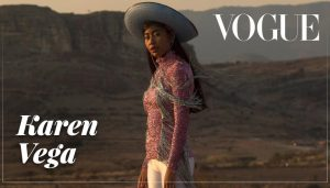 Oaxacan model Karen Vega in Vogue México.