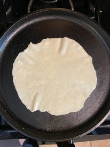cooking a tortillaa